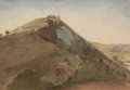 Fine Art - Painting, American:Antique  (Pre 1900), EDWARD LEAR (British, 1812-1888). Country Hillside.Watercolor and graphite on paper. 6-3/4 x 9-1/2 inches (17.1 x 24.1...