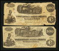 Confederate Notes:1862 Issues, T39 $100 1862.. T40 $100 1862.. ... (Total: 2 notes)