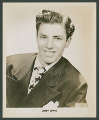 "Jerry Lewis by Sanford Sacks (James Kollar Studios, 1940s). Portraits (3) (8"" X 10""). Comedy. ... (Total: 3 It..."