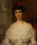 Fine Art - Painting, European:Modern  (1900 1949)  , PROPERTY OF A LADY. WILLIAM SAMUEL HENRY LLEWELLYN (British, 1854-1941). Portrait of Mrs. Kirk of Carrickfergus , ...