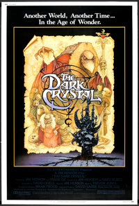 """The Dark Crystal Lot (Universal, 1982). Poster (40"""" X 60"""") and Insert (14"""" X 36""""). Fantasy. ... (Tot..."""