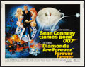 "Movie Posters:James Bond, Diamonds Are Forever (United Artists, 1971). Half Sheet (22"" X 28""). James Bond.. ..."