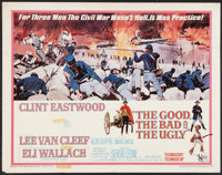 "The Good, the Bad and the Ugly (United Artists, 1968). Half Sheet (22"" X 28""). Western"