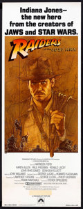 "Movie Posters:Adventure, Raiders of the Lost Ark (Paramount, 1981). Insert (14"" X 36"").Adventure.. ..."
