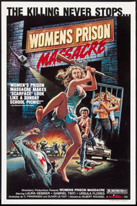 "Women's Prison Massacre (Unistar, 1985). One Sheet (27"" X 41""). Exploitation"