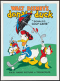 "Movie Posters:Animated, Donald's Golf Game (Circle Fine Arts, 1980s). Fine Art Serigraph(22.5"" X 30.5""). Animated.. ..."
