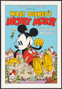 "Gulliver Mickey (Circle Fine Arts, 1980s). Fine Art Serigraph (21.5"" X 31.5""). Animated"