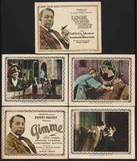 "Gimme Lot (Goldwyn, 1923). Title Lobby Cards (2) and Lobby Cards (3) (11"" X 14""). Comedy. ... (Total: 5 Items)"