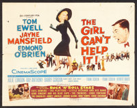 "The Girl Can't Help It (20th Century Fox, 1956). Half Sheet (22"" X 28""). Comedy"