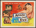 "Movie Posters:Drama, Adam and Eve (William A. Horne, 1958). Half Sheet (22"" X 28"").Drama.. ..."