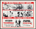 """Movie Posters:James Bond, Thunderball/You Only Live Twice Combo (United Artists, R-1971).Half Sheet (22"""" X 28""""). James Bond.. ..."""