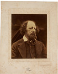 Photographs:Historical Photographs, JULIA MARGARET CAMERON (British, 1815-1879). Alfred Tennyson, 1869. Albumen. 9-1/2 x 11-3/4 inches (24.1 x 29.8 cm). ...