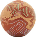 "American Indian Art:Pottery, A SANTA CLARA POLYCHROME SPHERE. Rosemary ""Apple Blossom"" Lonewolf.c. 1975..."
