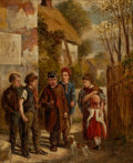 Fine Art - Painting, European:Antique  (Pre 1900), PROPERTY FROM THE WICHITA CENTER FOR THE ARTS. JOHN LOCKER(British, 1760-1860). Threatened Hostilities. Oil onboard...