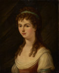 Fine Art - Painting, European:Antique  (Pre 1900), PROPERTY FROM THE WICHITA CENTER FOR THE ARTS. GEORGE HENRY HARLOW(British, 1787-1819). Portrait of a Young Lady...