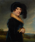 Fine Art - Painting, European:Antique  (Pre 1900), PROPERTY FROM THE WICHITA CENTER FOR THE ARTS. SAMUEL DRUMMOND(British, 1765-1844). Portrait of Miss Smythson, Actr...