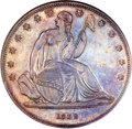 Gobrecht Dollars, 1839 P$1 Name Omitted, Judd-104 Restrike, Pollock-116, R.3, PR64NGC....
