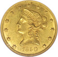 Liberty Eagles, 1850 $10 Small Date MS61 NGC....