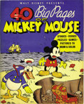 Platinum Age (1897-1937):Miscellaneous, 40 Big Pages of Mickey Mouse #945 (Whitman, 1936) Condition:FN+....