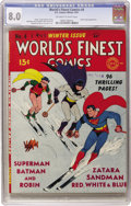 Golden Age (1938-1955):Superhero, World's Finest Comics #4 (DC, 1941) CGC VF 8.0 Off-white to white pages. The World's Finest team of Superman, Batman, an...