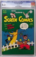 Golden Age (1938-1955):Funny Animal, Real Screen Comics #2 Vancouver pedigree (DC, 1945) CGC VF+ 8.5White pages....
