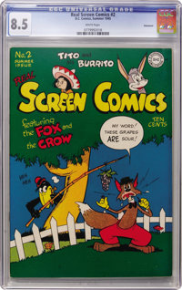 Real Screen Comics #2 Vancouver pedigree (DC, 1945) CGC VF+ 8.5 White pages