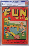 Platinum Age (1897-1937):Miscellaneous, More Fun Comics #10 (DC, 1936) CGC VG+ 4.5 Off-white to whitepages....
