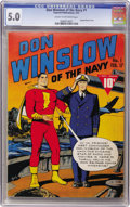Golden Age (1938-1955):War, Don Winslow of the Navy #1 (Fawcett, 1943) CGC VG/FN 5.0 Cream to off-white pages....