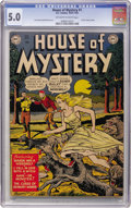 Golden Age (1938-1955):Horror, House of Mystery #1 (DC, 1952) CGC VG/FN 5.0 Off-white to whitepages....