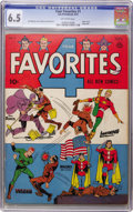 Golden Age (1938-1955):Superhero, Four Favorites #1 (Ace, 1941) CGC FN+ 6.5 Off-white pages....