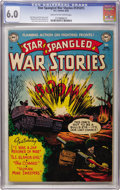 Golden Age (1938-1955):War, Star Spangled War Stories #131 (#1) (DC, 1952) CGC FN 6.0 Cream tooff-white pages....