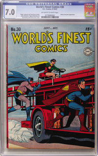 World's Finest Comics #30 (DC, 1947) CGC FN/VF 7.0 Off-white to white pages