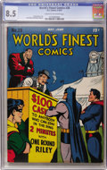 Golden Age (1938-1955):Superhero, World's Finest Comics #28 (DC, 1947) CGC VF+ 8.5 Cream to off-white pages....