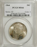 Kennedy Half Dollars: , 1964 50C MS66 PCGS. PCGS Population (825/32). NGC Census: (210/49).Mintage: 273,300,000. Numismedia Wsl. Price for NGC/PCG...