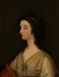 Fine Art - Painting, European:Antique  (Pre 1900), PROPERTY OF THE WICHITA CENTER FOR THE ARTS. Manner of THOMASLAWRENCE (British, 1769-1830). Portrait of a Woman. Oil ...