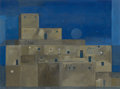 Texas:Early Texas Art - Modernists, GEORGE GRAMMER (American, b. 1928). The Pueblo Noche.Acrylic and watercolor on paper. 17-1/2 x 23-1/2 inches (44.5 x59...