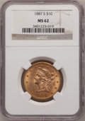 Liberty Eagles: , 1887-S $10 MS62 NGC. NGC Census: (459/58). PCGS Population(254/79). Mintage: 817,000. Numismedia Wsl. Price for problem fr...