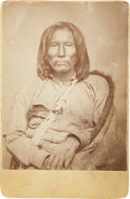 American Indian Art:Photographs, SITTING BEAR and HORSE BACK. c. 1868... (Total: 2 Items)