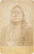 American Indian Art:Photographs, WHITE BEAR and WHITE HORSE. c. 1868... (Total: 2 Items)