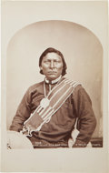 """American Indian Art:Photographs, NOON DAY SUN, POWATCH, and """"A UTE BRAVE"""". c. 1874... (Total: 3 Items)"""