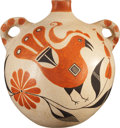 American Indian Art:Pottery, AN ACOMA POLYCHROME CANTEEN. c. 1950...