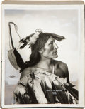 American Indian Art:Photographs, CHASE IN THE MORNING and MEDICINE CLOUD. c. 1899... (Total: 2Items)