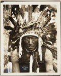 American Indian Art:Photographs, BELL ROCK and PEA-TWY-TUCK. c. 1899... (Total: 2 Items)