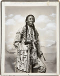 American Indian Art:Photographs, KILL BEAR and FRECKLED FACE. c. 1898... (Total: 2 Items)