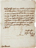 """Autographs:Non-American, Pope Urban VIII Autograph Letter Signed """"M[affeo] Card[inal] Barberini"""". One page, 8.25"""" x 11"""", Rome, 1608. The ..."""