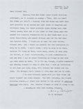 """Autographs:Authors, J. D. Salinger Typed Letter Signed """"Jerry Salinger"""". Onepage, 8.5"""" x 11"""", Cornish, New Hampshire, November 16, 1989, to..."""