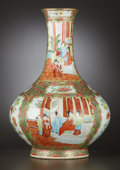 Asian:Chinese, A CHINESE EXPORT ROSE MEDALLION PORCELAIN VASE . China, circa 1890.Unmarked. 15 x 11 inches diameter (38.1 x 27.9 cm). ...