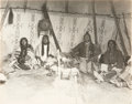 American Indian Art:Photographs, NORTHERN BLACKFEET CEREMONIAL ALTAR, BIG BELLY, STUMP, and EAGLENOSE. c. 1912... (Total: 4 Items)