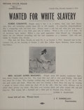 """Miscellaneous:Broadside, Wanted Poster: Nevada """"White Slavery""""...."""
