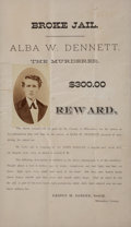 "Miscellaneous:Broadside, Wanted Poster: Delightful ""Broke Jail"", 1877. ..."